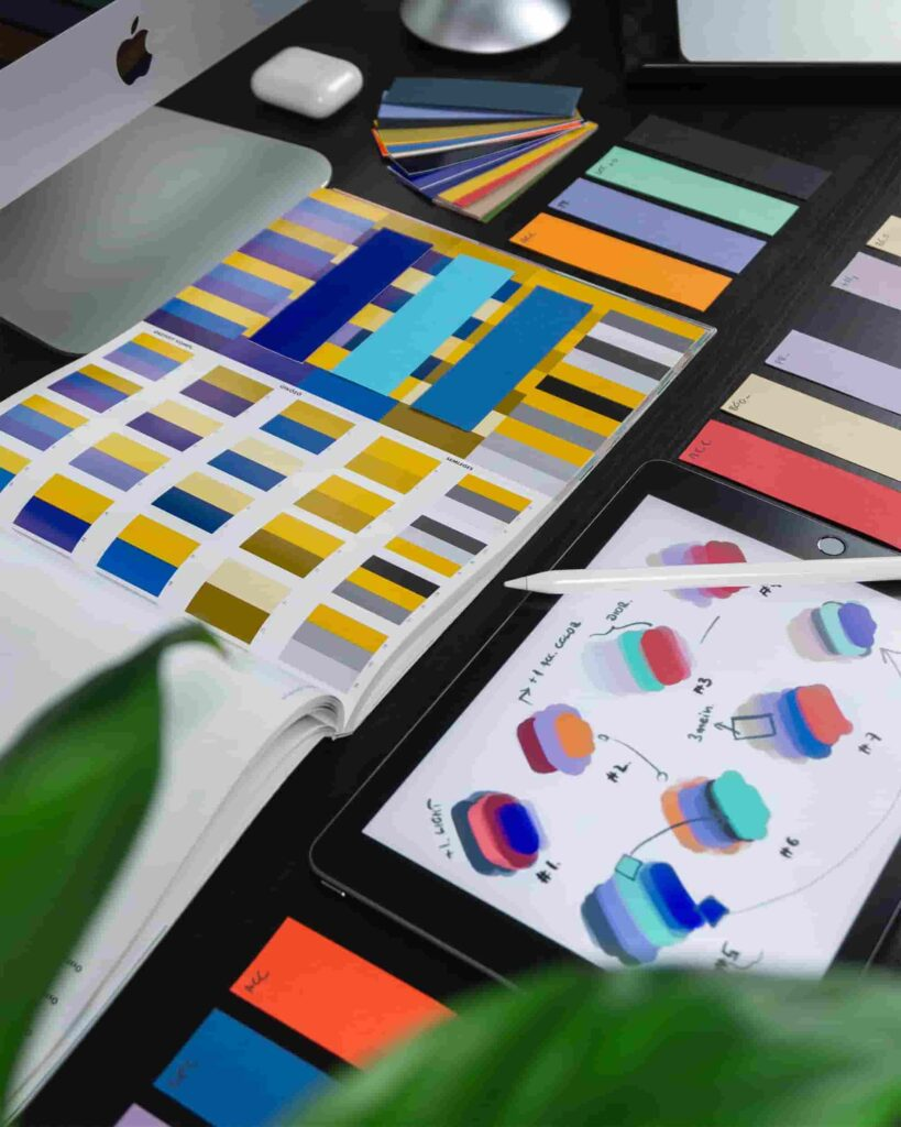Colourful branding swatches
