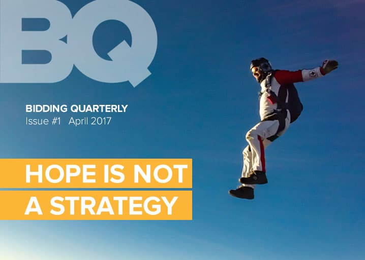 Issue 1 - Hope is not a strategy